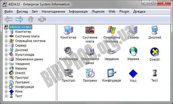 Скриншот AIDA32