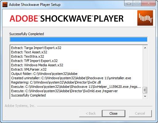 descarga adobe shockwave player: