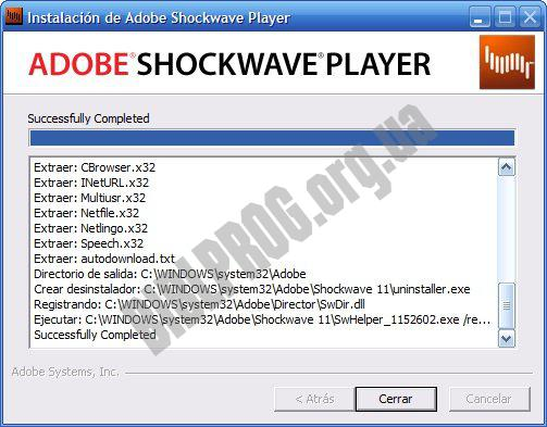 Скриншот Adobe Shockwave Player