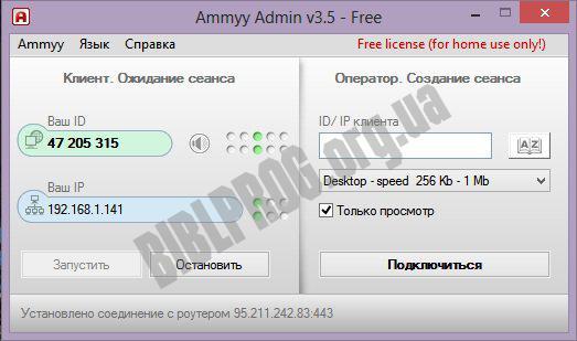 Скриншот Ammyy Admin