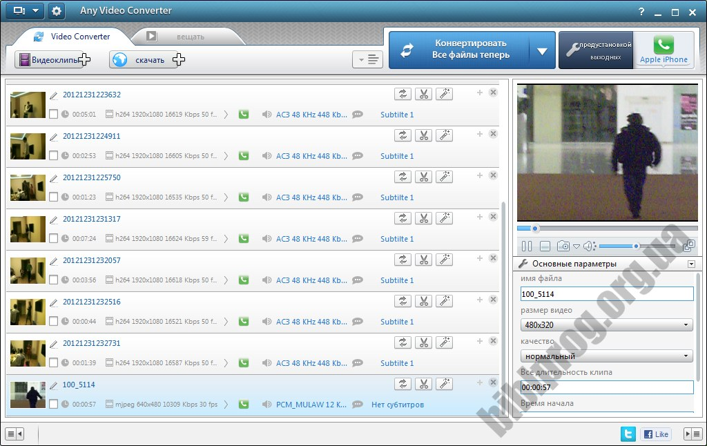 Скриншот Any Video Converter