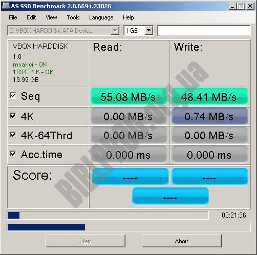 Скриншот AS SSD Benchmark