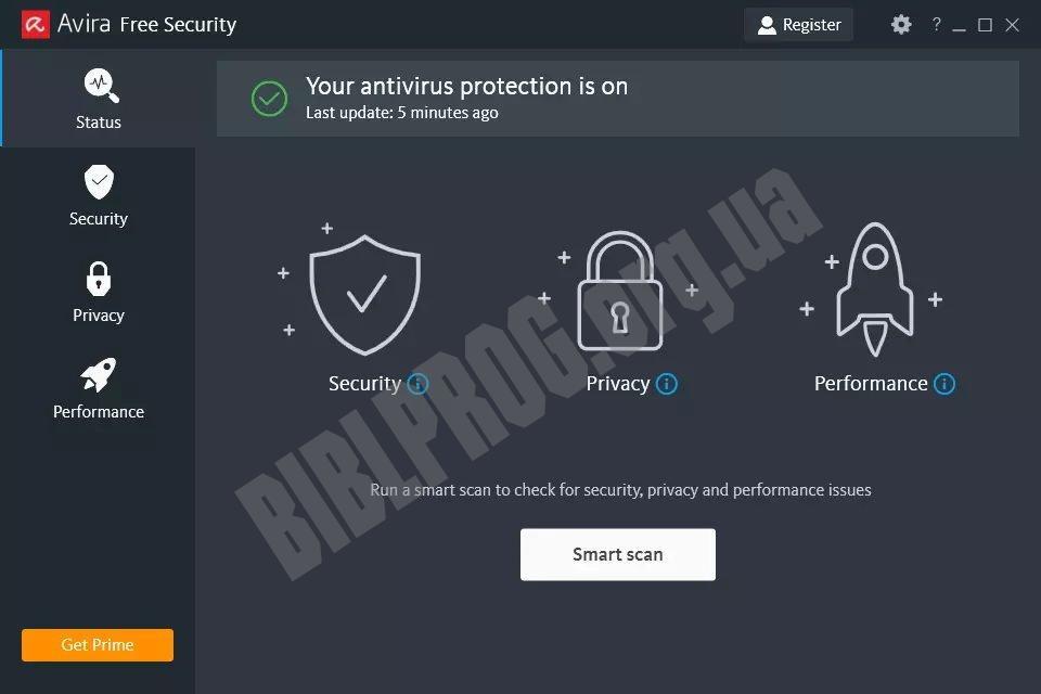 Скриншот Avira Free Security