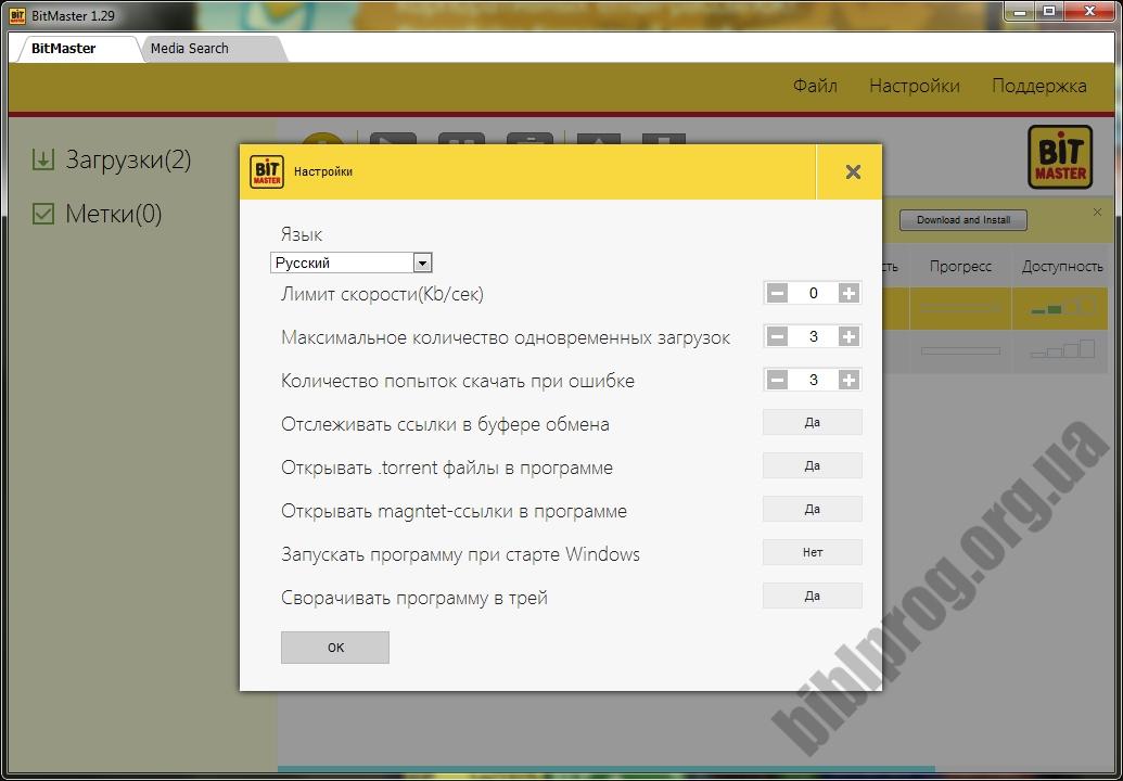 Скриншот BitMaster