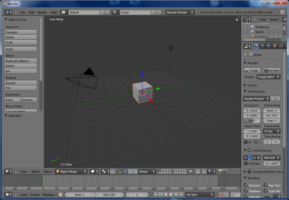 Скриншот Blender