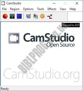 Скриншот CamStudio