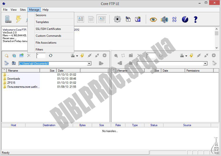 Скриншот Core FTP