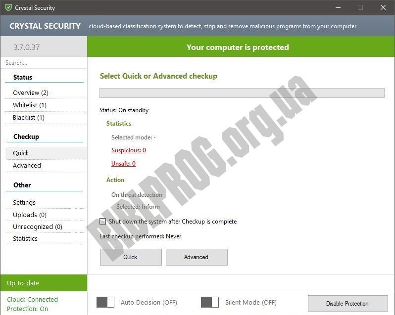 Скриншот Crystal Security