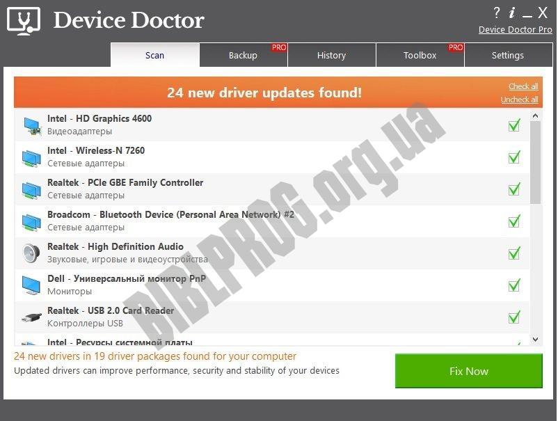 Скриншот Device Doctor