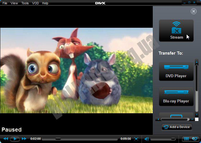 Скриншот DivX