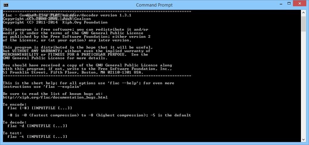 Скриншот FLAC