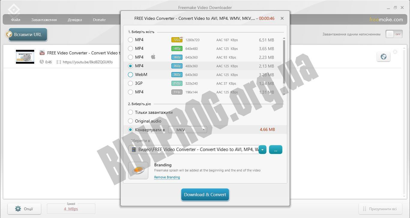 Скриншот Freemake Video Downloader