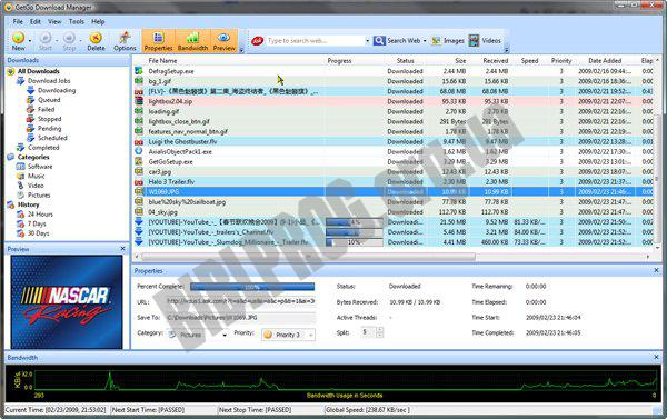 Скриншот GetGo Download Manager