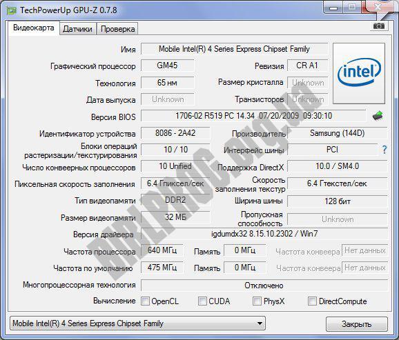 Скриншот GPU-Z