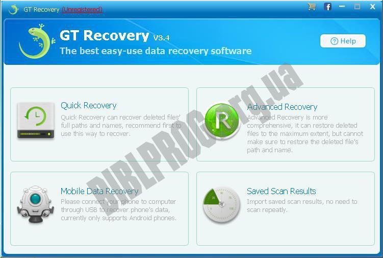 Скриншот GT Recovery