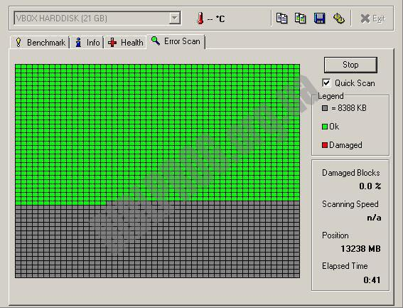 Скриншот HD Tune