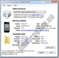 Free iPhone Backup Extractor