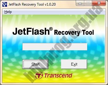 Скриншот JetFlash Recovery Tool