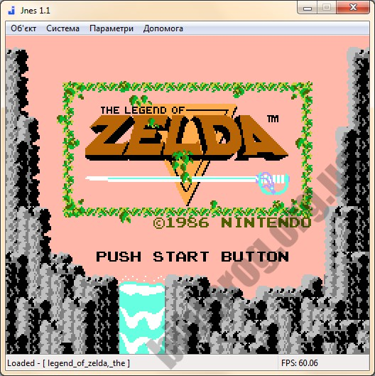 Скриншот Jnes
