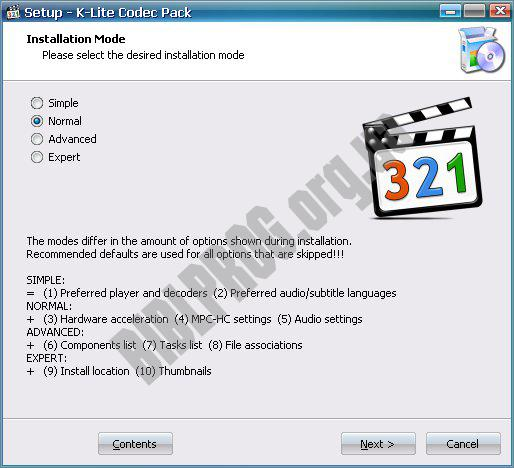 Скриншот K-Lite Codec Pack Full