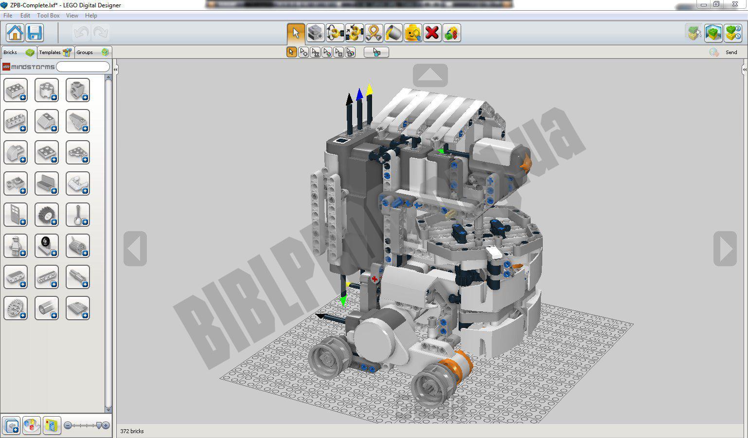 Скриншот LEGO Digital Designer