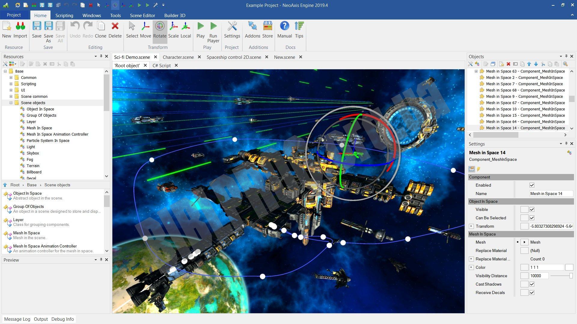 Скриншот NeoAxis Engine