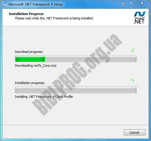 Скриншот Microsoft .NET Framework