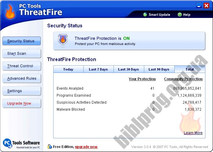 Скриншот PC Tools ThreatFire