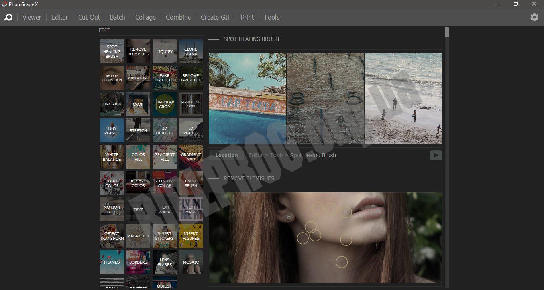Скриншот PhotoScape X