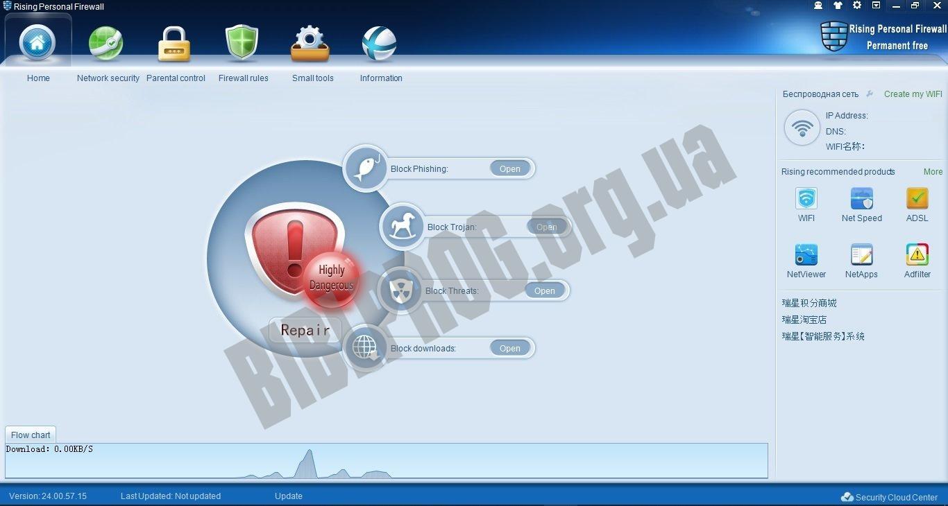 Скриншот Rising Personal Firewall