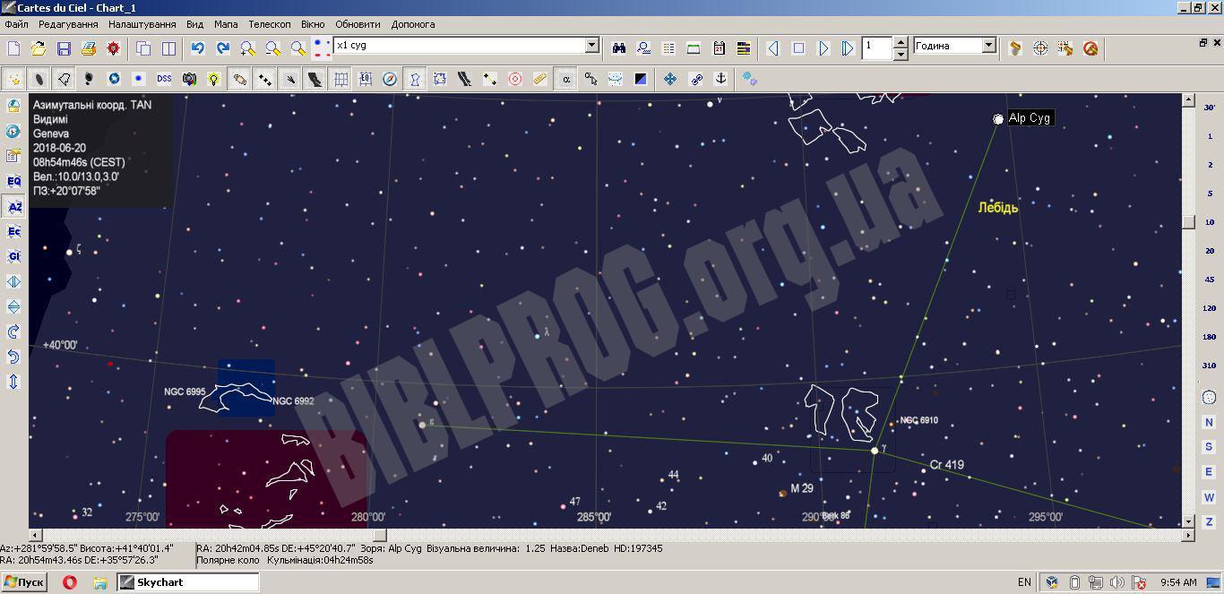 Скриншот SkyChart