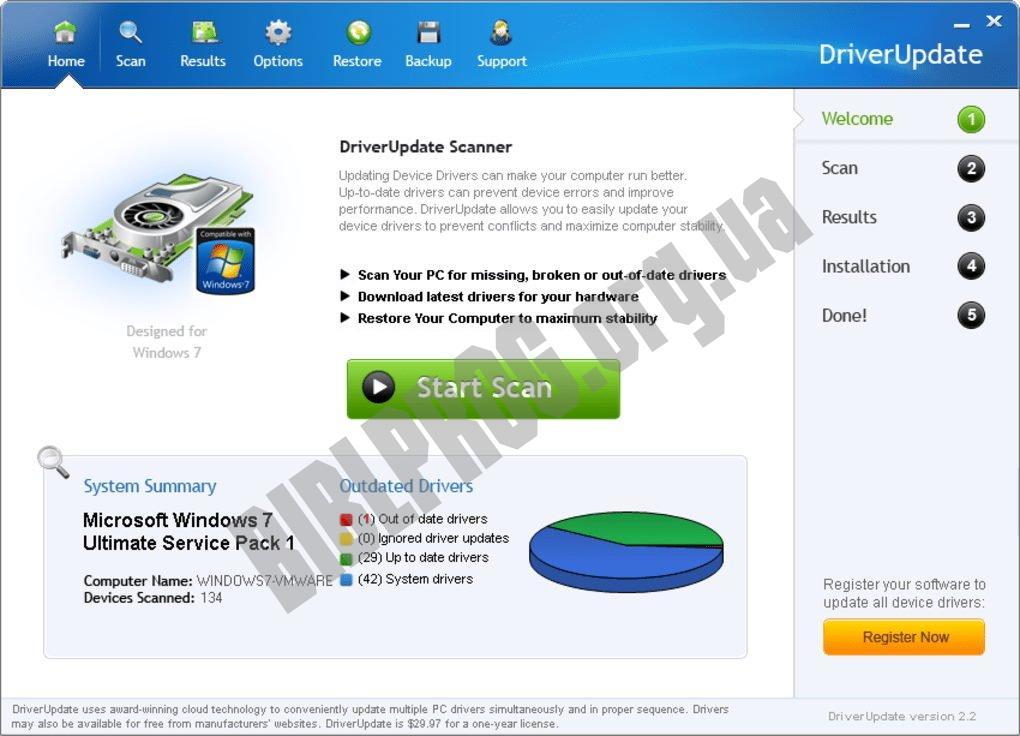 Скриншот SlimDrivers Free