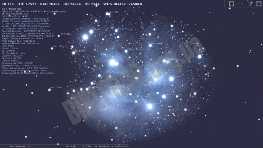 Скриншот Stellarium