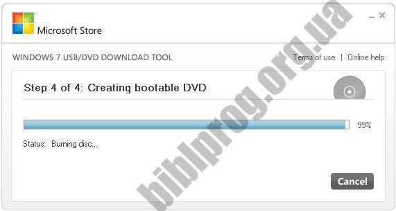 Скриншот Windows USB/DVD Download Tool