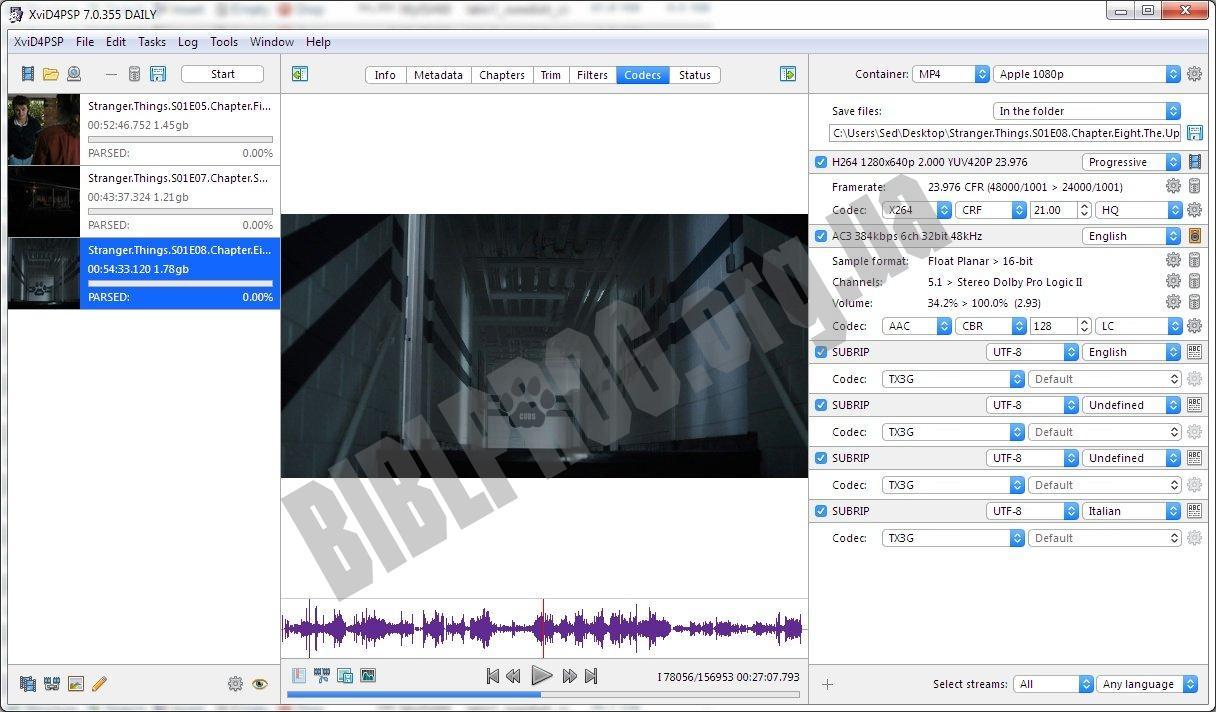 Скриншот XviD4PSP