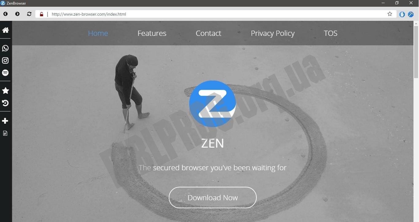 Скриншот ZenBrowser