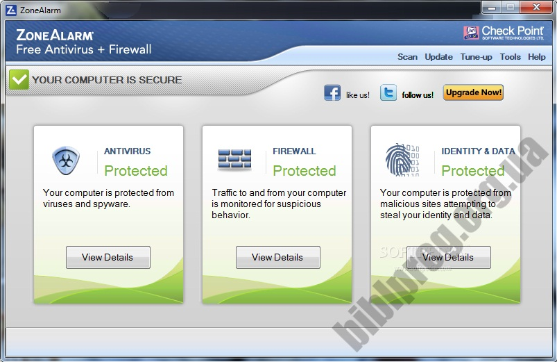 Скриншот ZoneAlarm Free Antivirus + Firewall